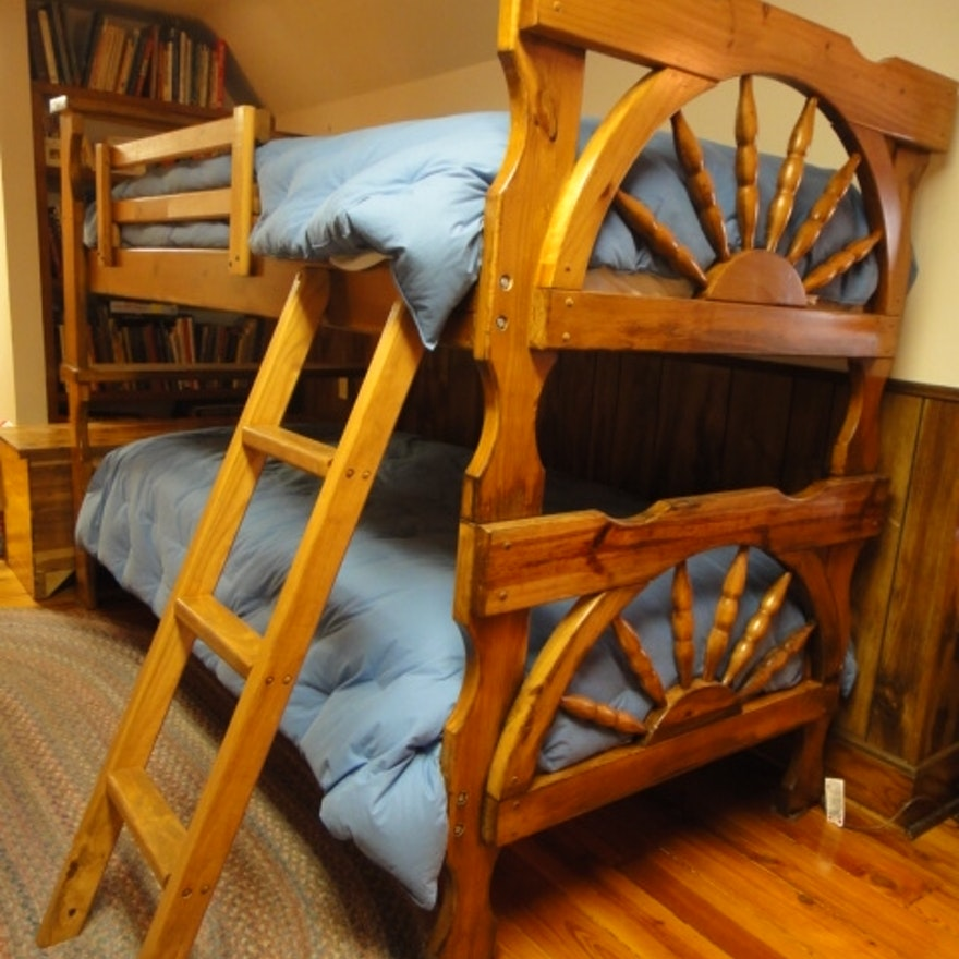 Mid Century Wagon Wheel Bunk Beds