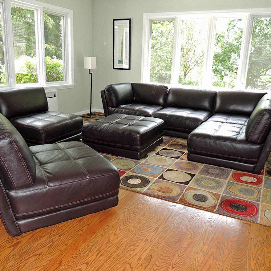 Chateau Dax Furniture Reviews: Chateau D'Ax Leather Sectional Sofa