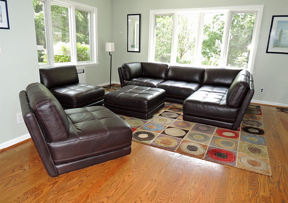 Chateau Du0027Ax Leather Sectional Sofa ...
