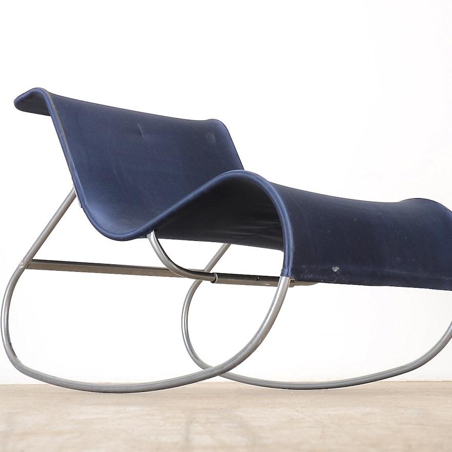 Ikea Emmabo Blue Rocking Chair Ebth