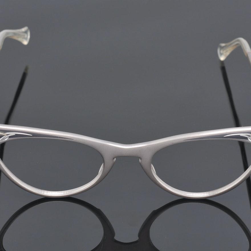 0718ef38daed 1950s Vintage Titmus Aluminum Bejeweled and Engraved Eyeglasses   EBTH