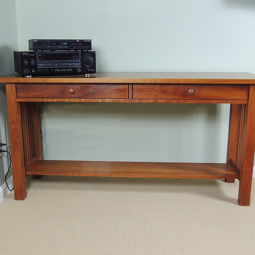 Cherry Two Drawer Sofa Table