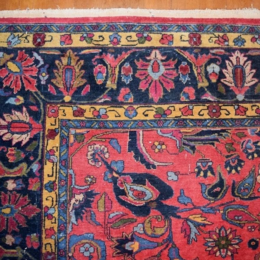 "Persian Style Wool Area Rug Ebth: 1930s ""Gulistan"" Persian Style Wool Rug By Karagheusian"