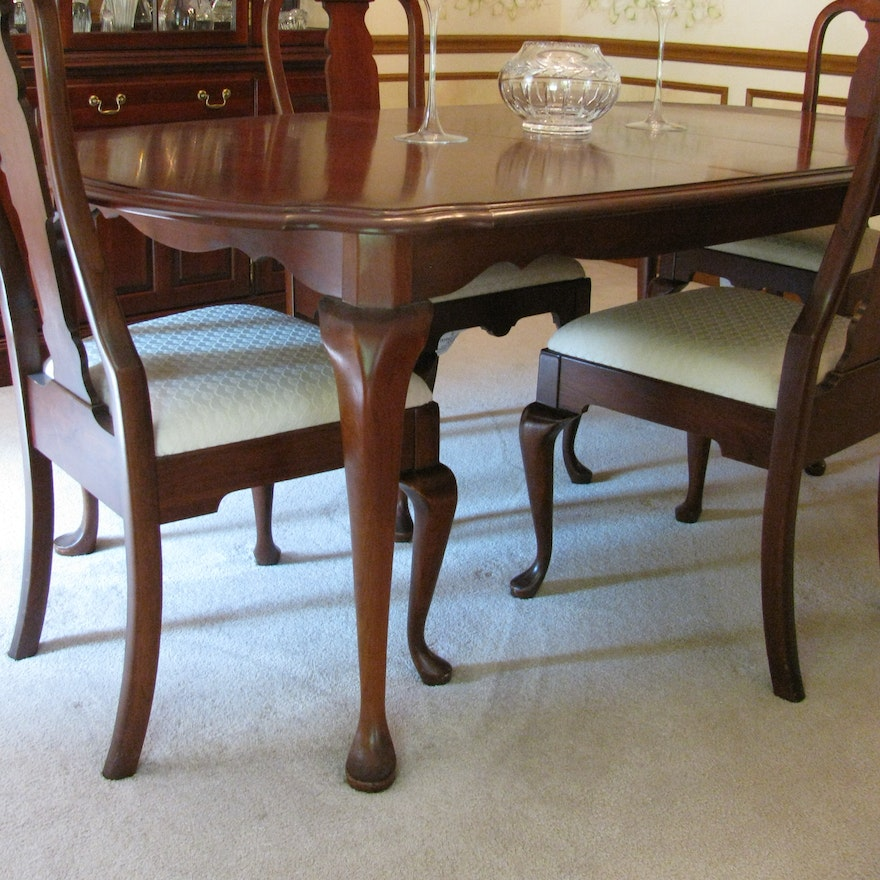 Cherry Table And Chairs: Pennsylvania House Cherry Queen Anne Dining Room Table And