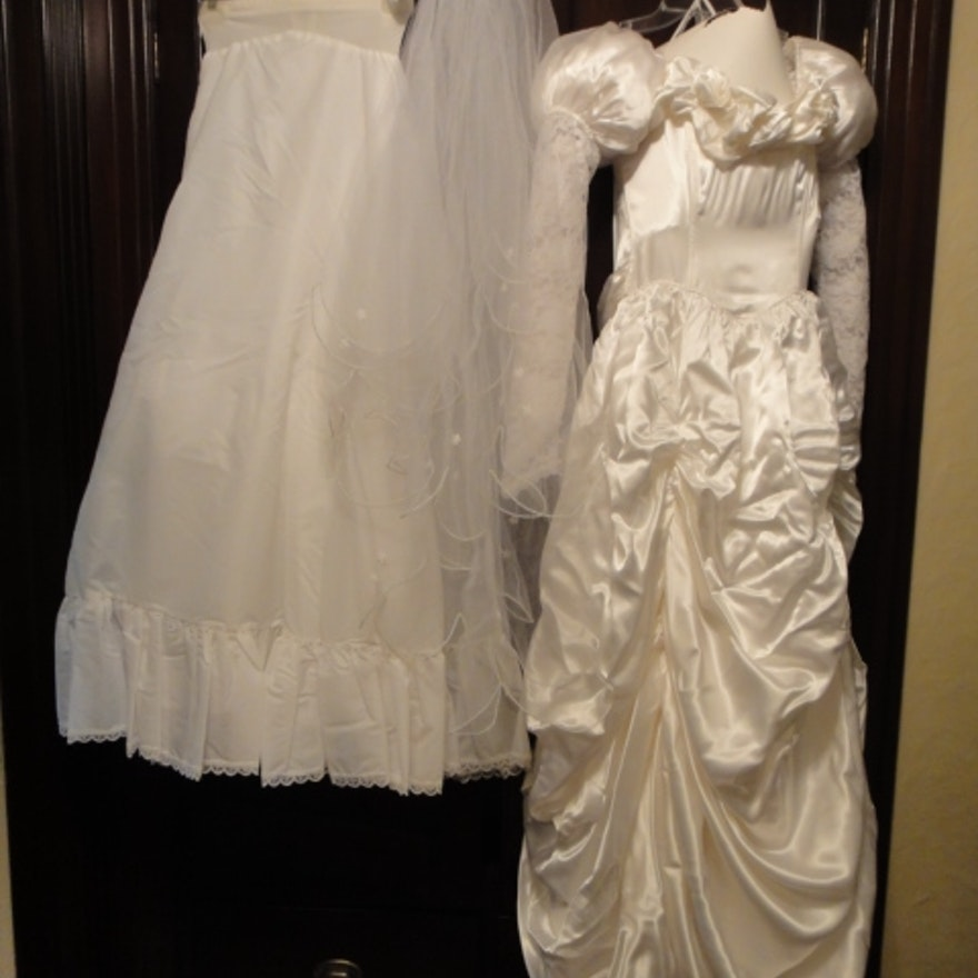 1980s Jessica McClintock Wedding Dress : EBTH