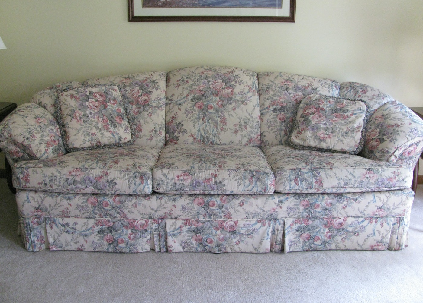 Traditional Floral Sofa Made By Cochrane Furniture Ebth
