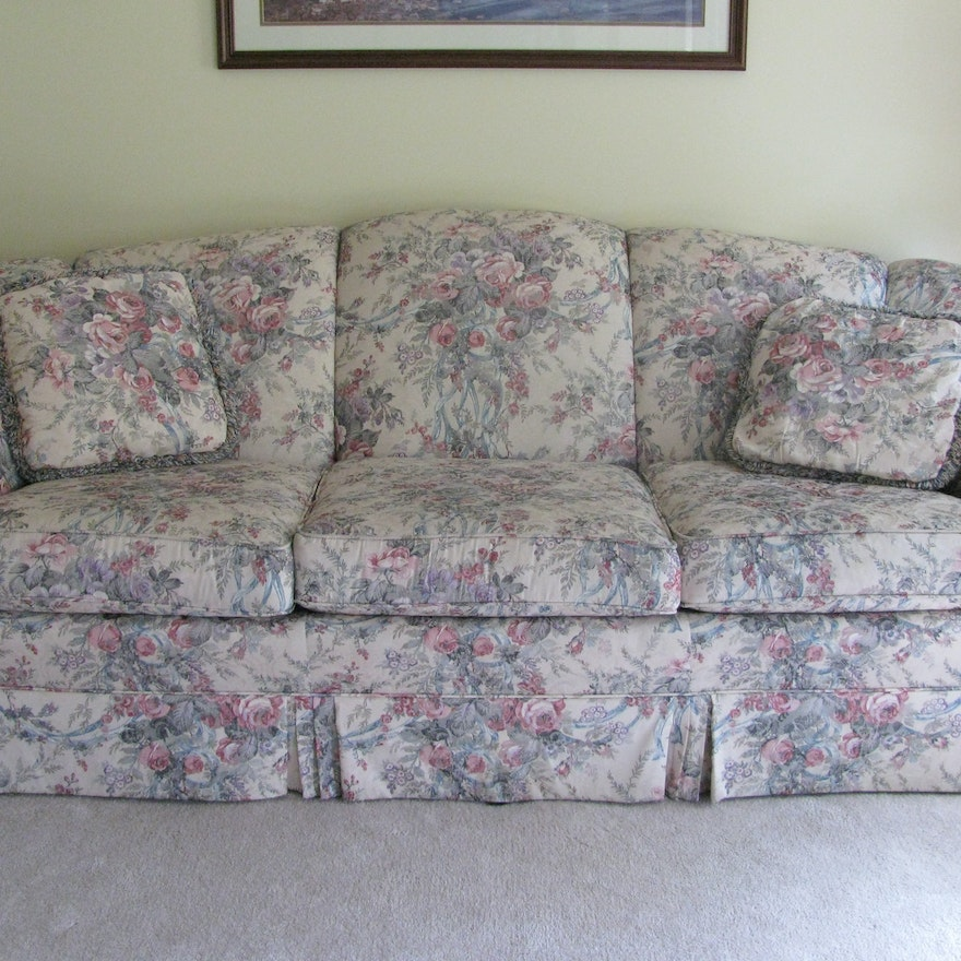 Floral Living Room Sets: Traditional Floral Sofa Made By Cochrane Furniture