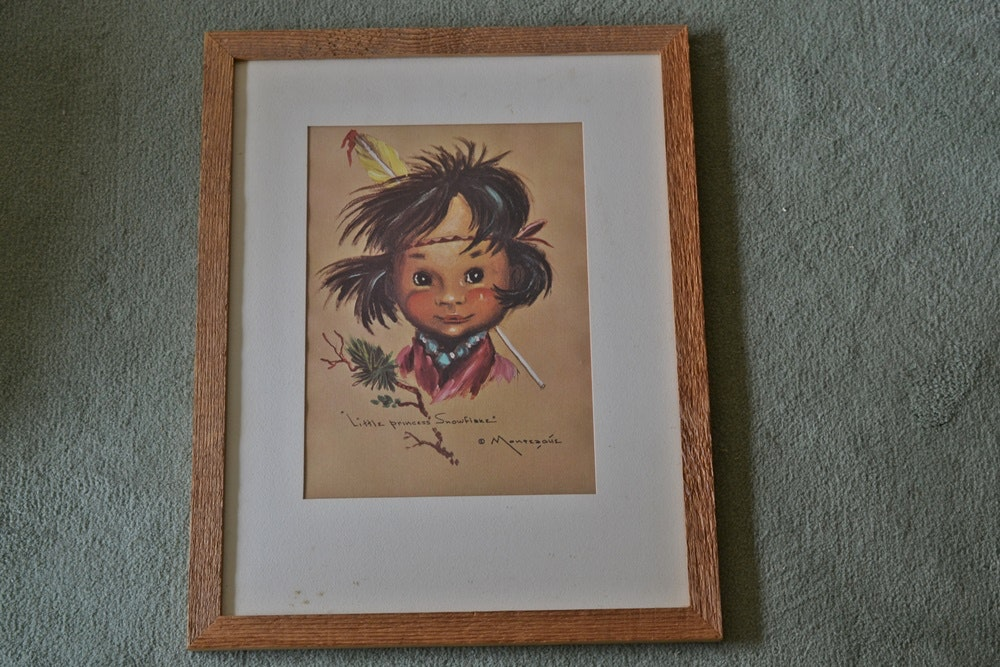 Print After Quot Little Princess Snowflake Quot By Monteague Flagg