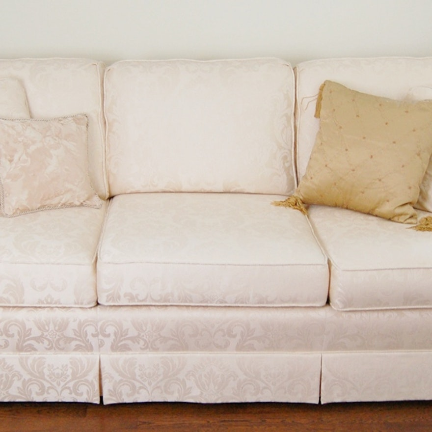 Sherrill Cream Brocade Sofa
