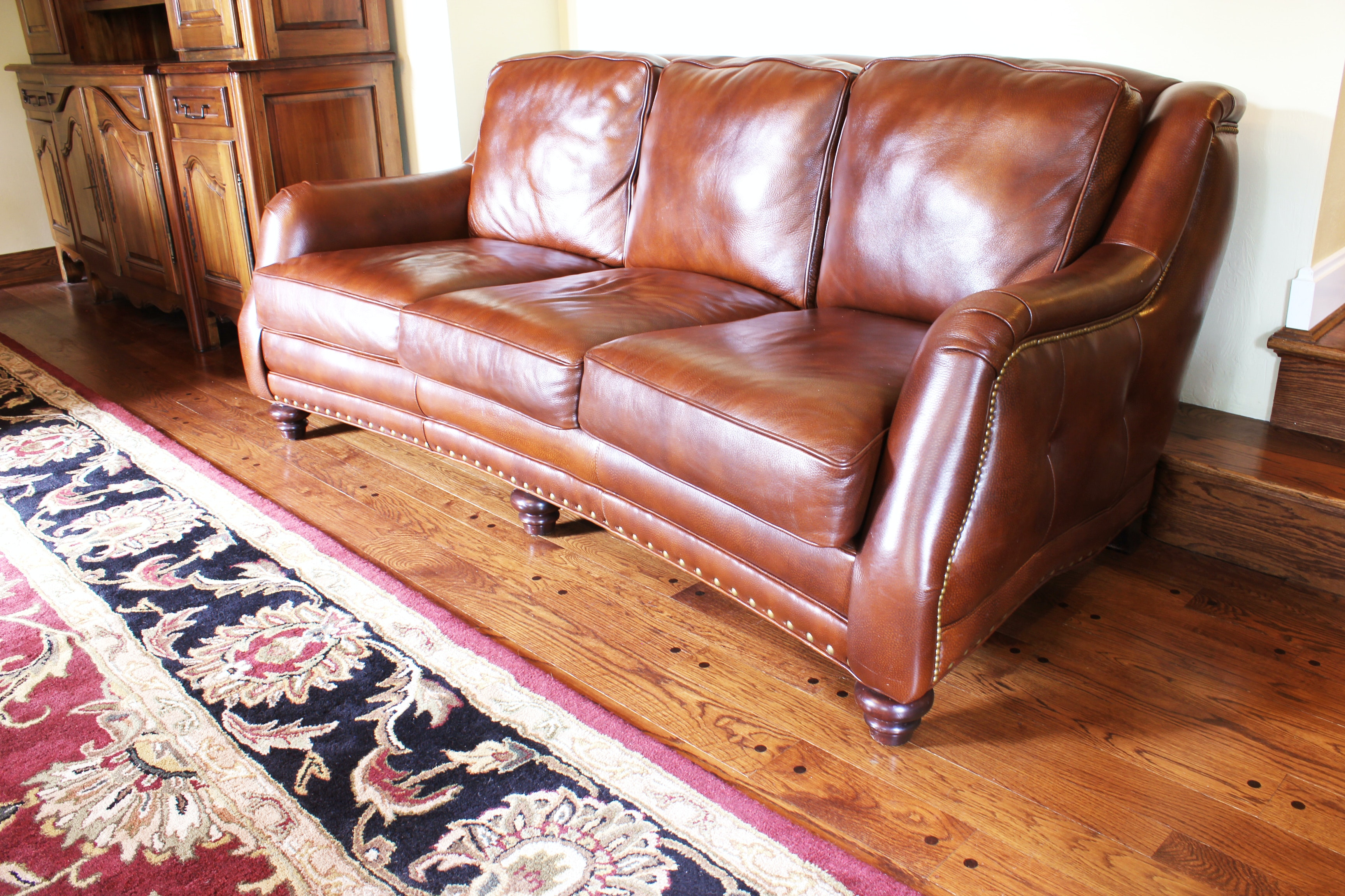 Hancock & Moore Genuine Leather Sofa