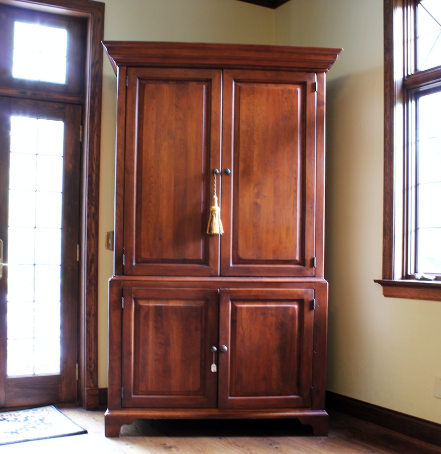 Lexington furniture cherry entertainment armoire ebth for Entertainment armoire