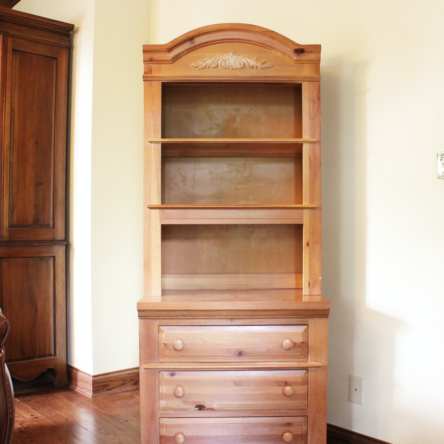 Broyhill Furniture Pine Dresser with Bookcase : EBTH