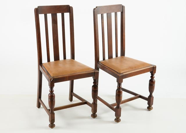 Pair Of Pennsylvania Dutch Style Side Chairs