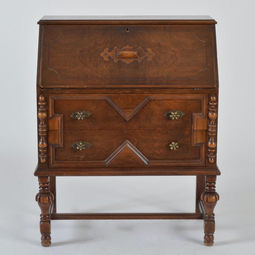 1930s Johnson-Handley-Johnson Slant-Front Desk - Online Furniture Auctions Vintage Furniture Auction Antique
