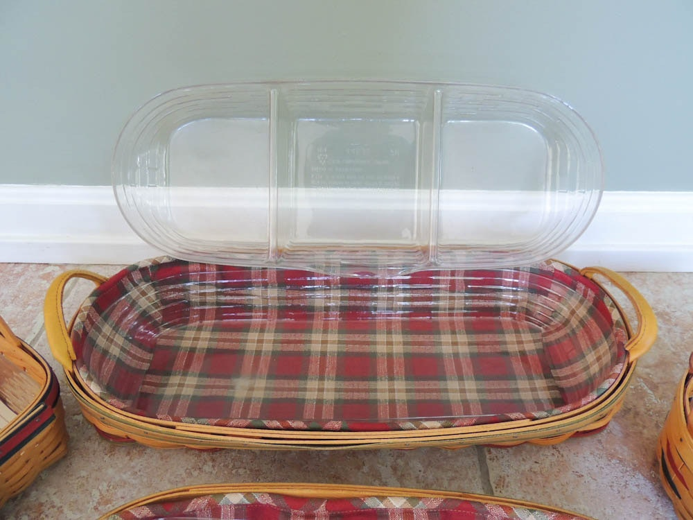 Longaberger Extra Small Foyer Basket : Five small longaberger baskets with color ebth