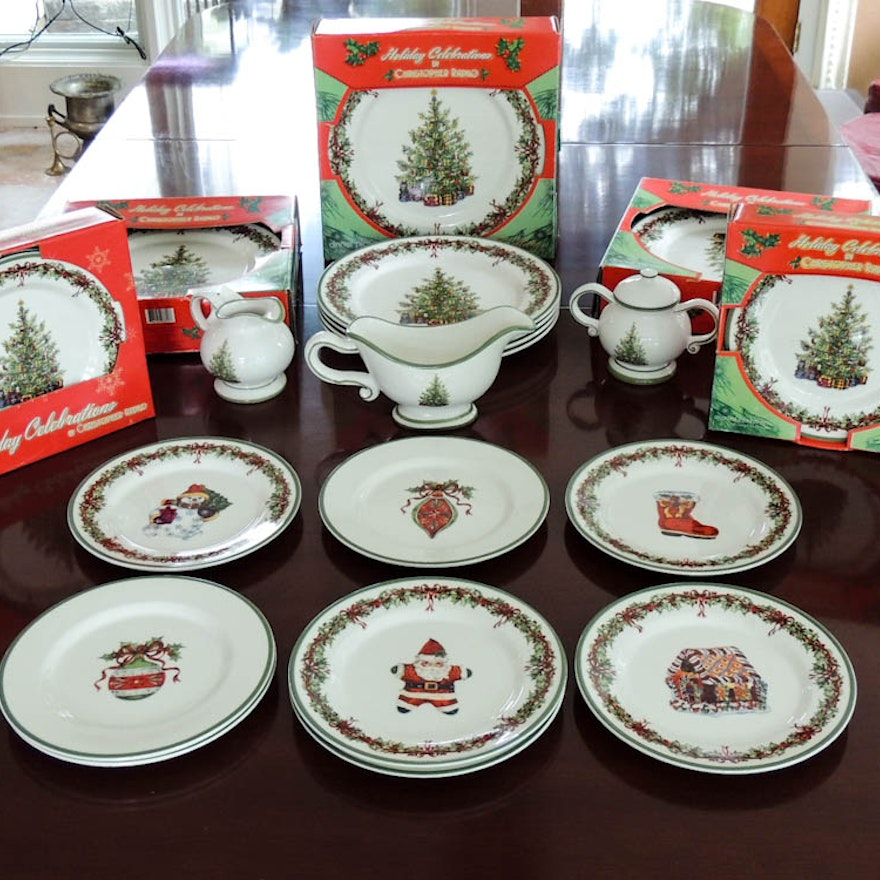Christopher Radko Traditions Holiday Celebration Dish Set : EBTH