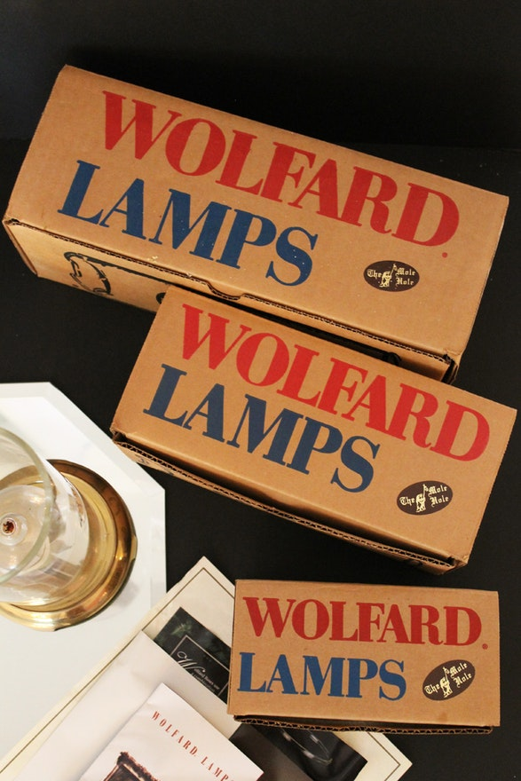 Three Wolfard Glassblowing Co Oil Lamps And Bases Ebth