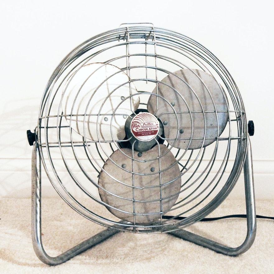 Patton High Velocity Air Circulator : Vintage industrial metal patton air circulator floor fan