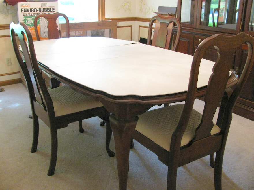 pennsylvania house cherry dining room furniture | Pennsylvania House Cherry Queen Anne Dining Room Table and ...