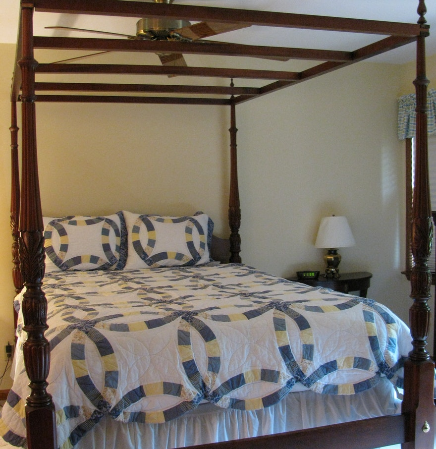 Pennsylvania House Bedroom Furniture Pennsylvania House Chippendale Style Four Post Canopy Queen Bed Ebth
