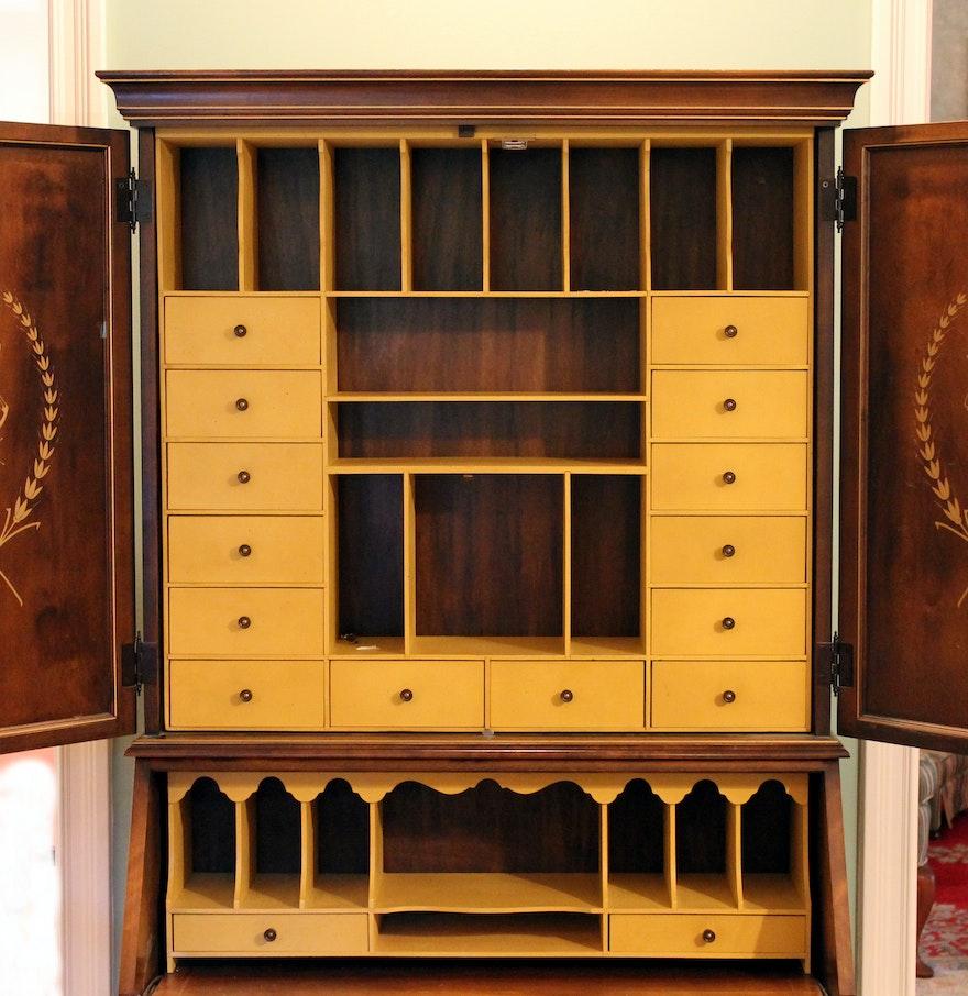 Jasper Cabinet Co. Secretary Desk with Hutch : EBTH