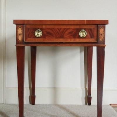 Hekman Mahogany End Table - Online Furniture Auctions Vintage Furniture Auction Antique