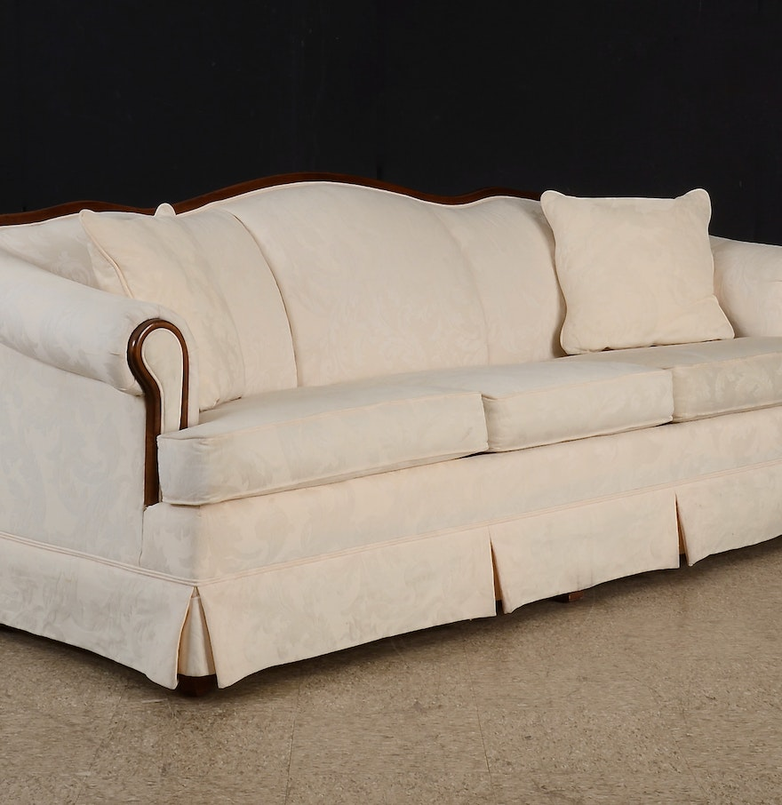 Broyhill empire style sofa ebth for Broyhill chaise lounge cushions