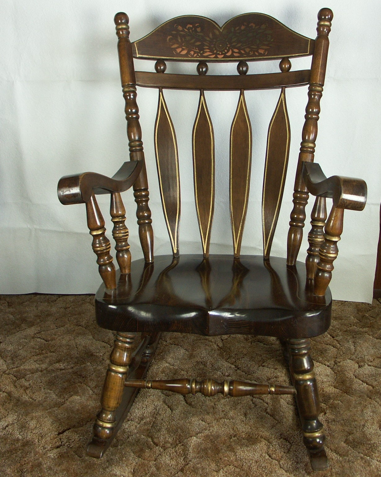 Large Pine Rocking Chair ...