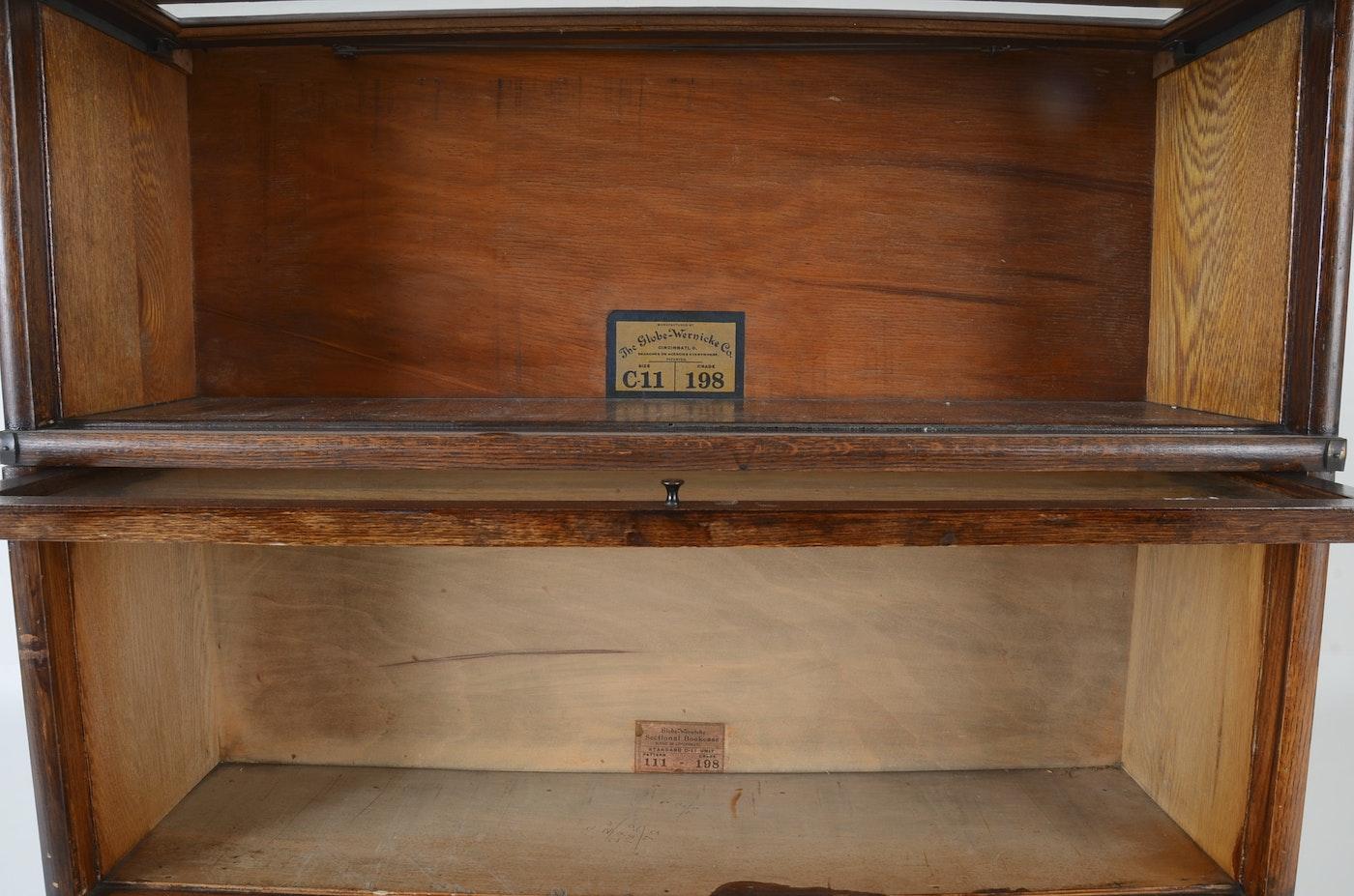 The Globe Wernicke Co Oak Barrister Bookcase Ebth