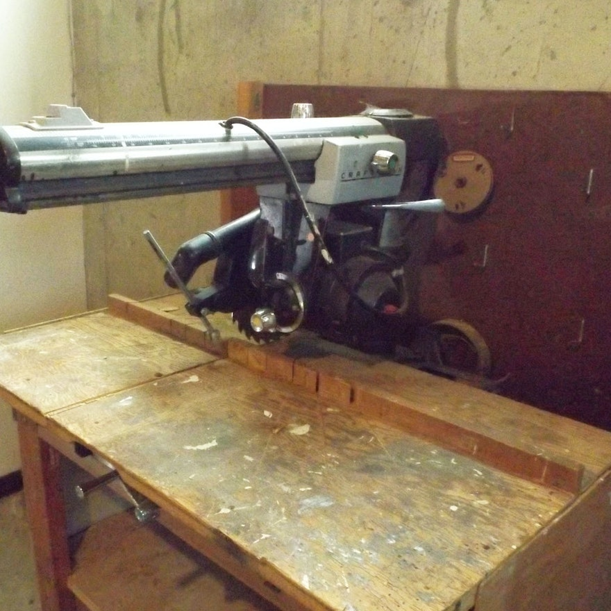 Sears Craftsman Radial 100 Saw with Work Bench