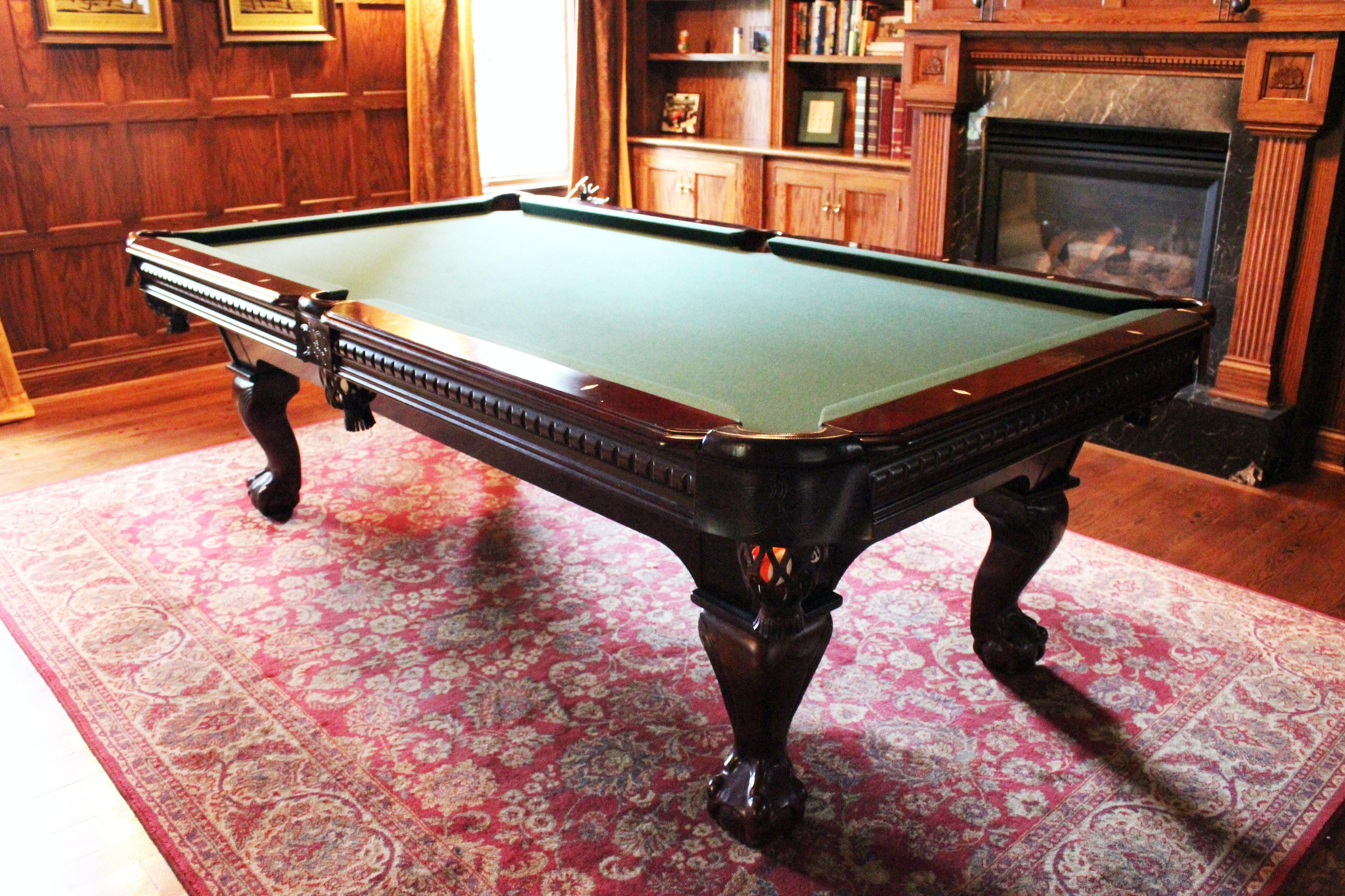 Chippendale Style Elephant Balls Ltd. Billiards Table