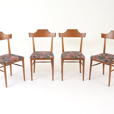 four danish modern style dining chairs by paul mccobb