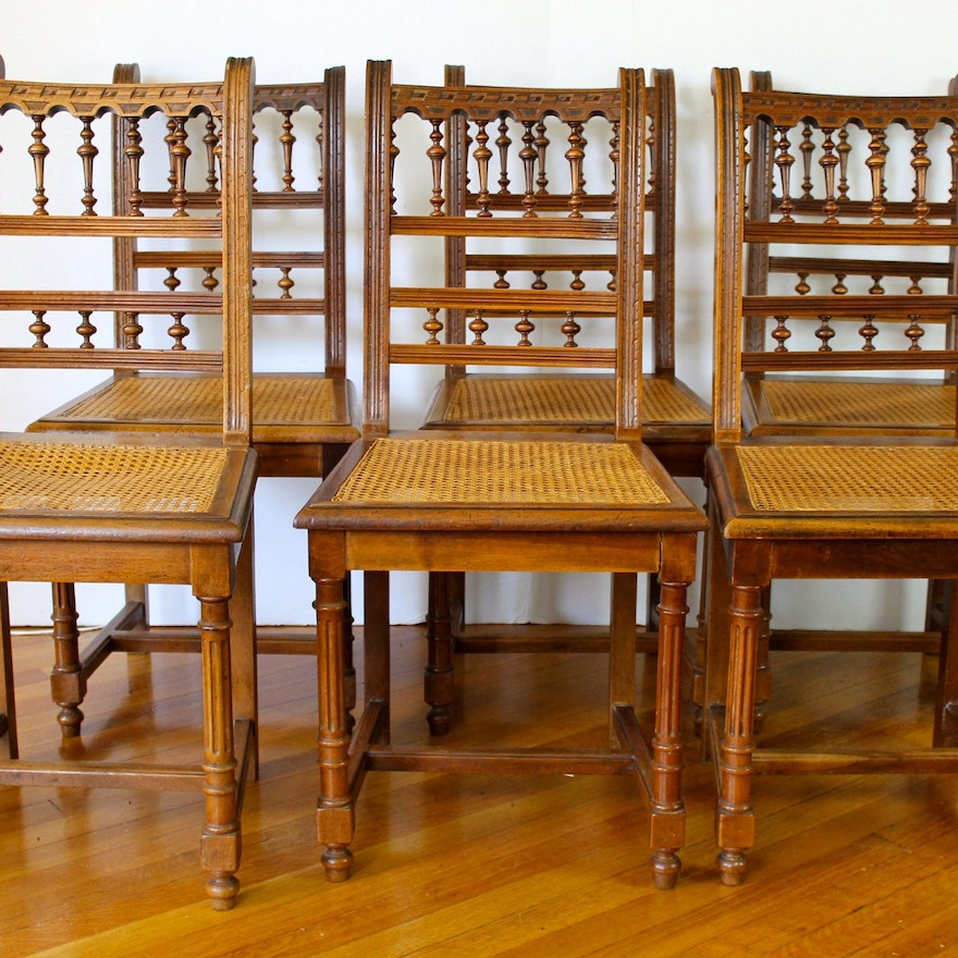 Antique Walnut Dining Chairs ... - Antique Walnut Dining Chairs : EBTH
