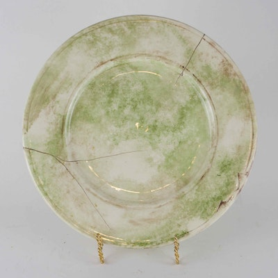97de6c1b0d0 Signed Large Hand-Painted Faux Marble Tray