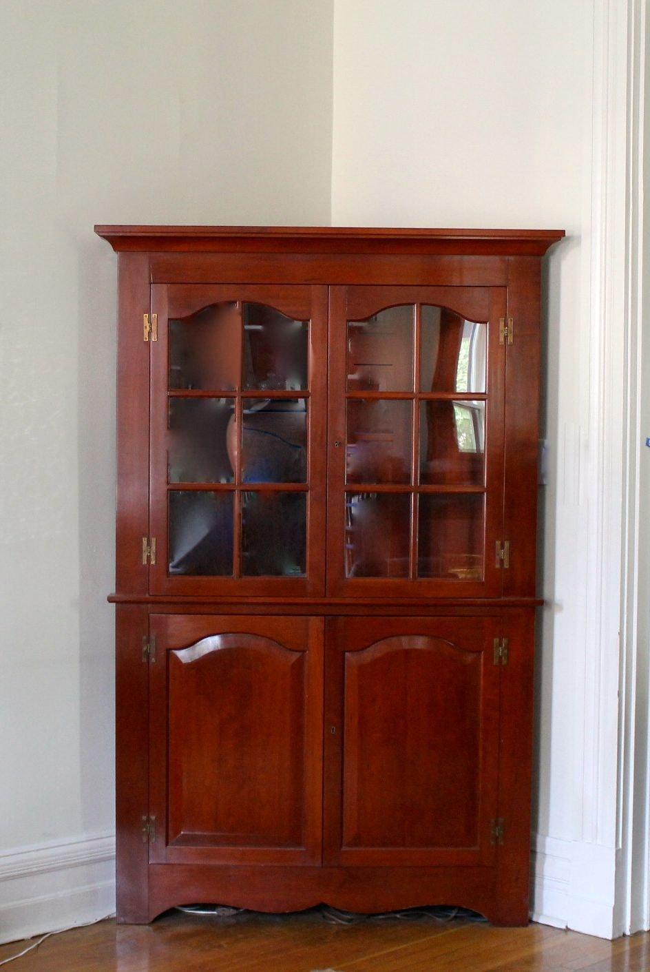 Custom Made Cherry Corner Cabinet