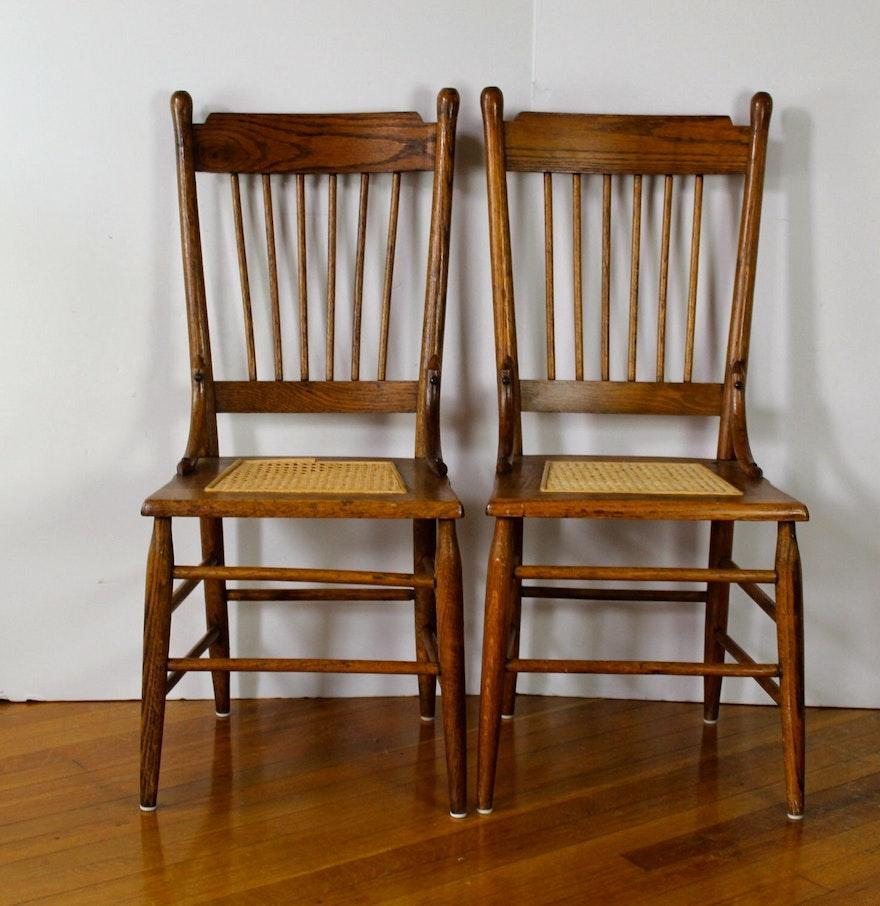 vintage oak cane bottom kitchen chairs kitchen wooden chairs Vintage Oak Cane Bottom Kitchen Chairs