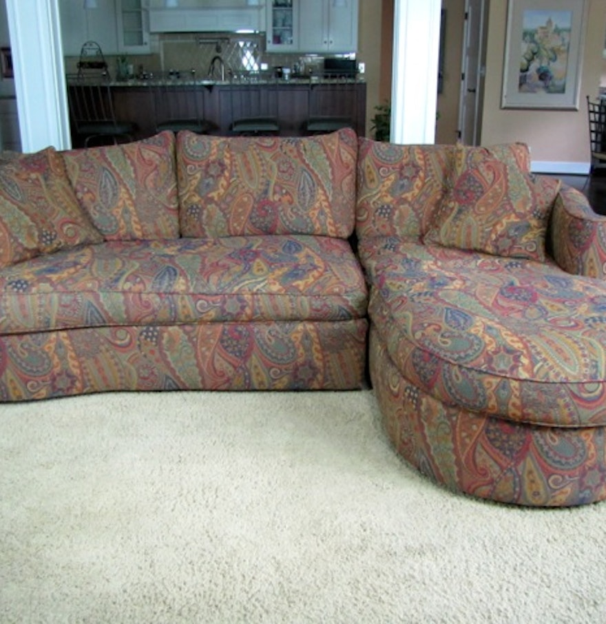 Paisley Sofa Find More Haverty S Olive Green And Gold Paisley Sofa Reduced Thesofa