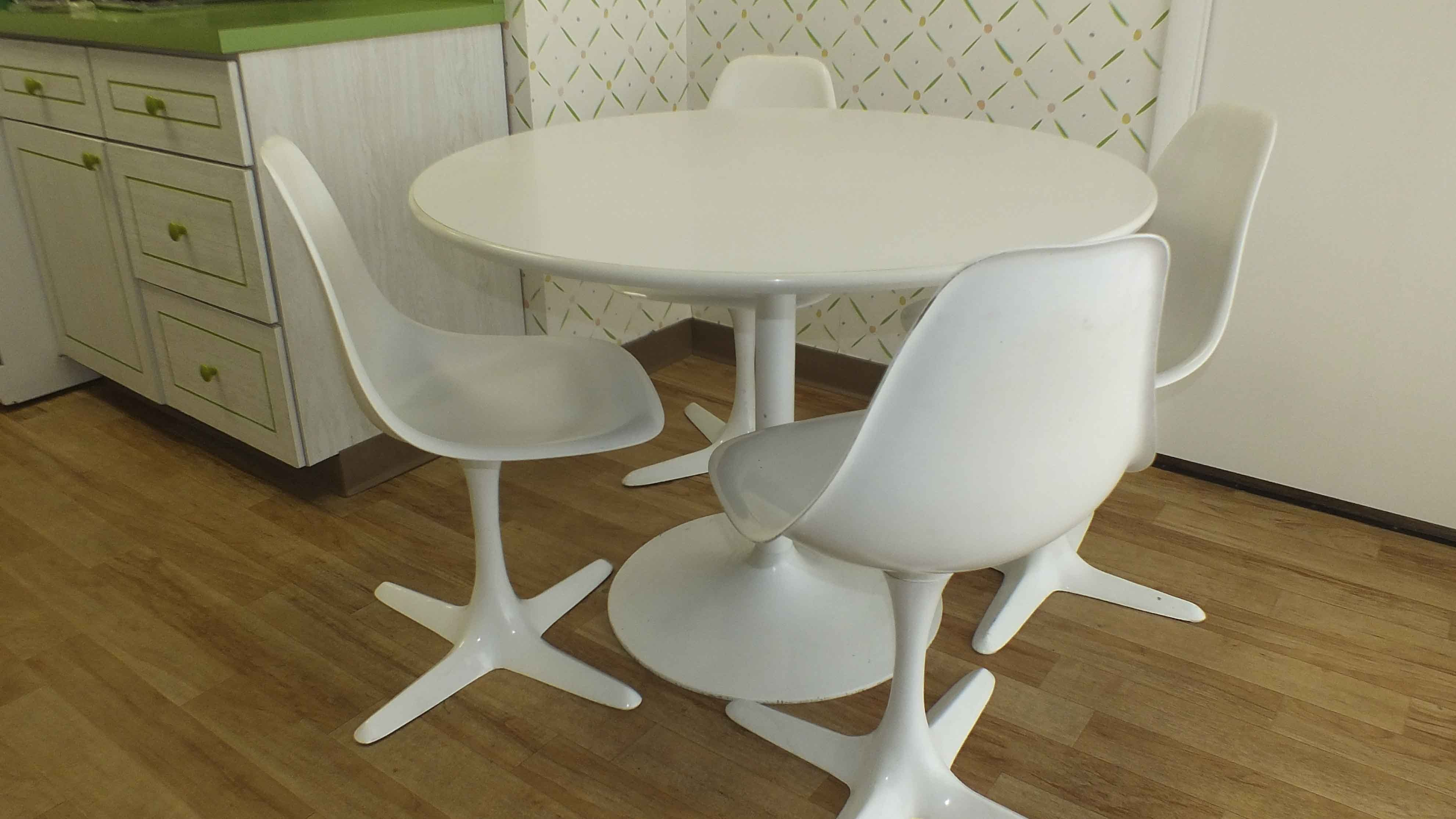 Burke Inc Mid Century Modern Table And Chairs ...