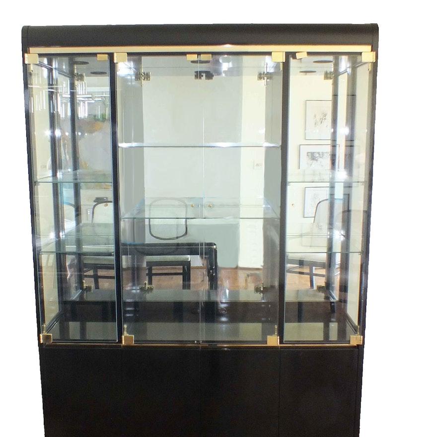 Vintage Lane Lido Black Lacquer China Cabinet