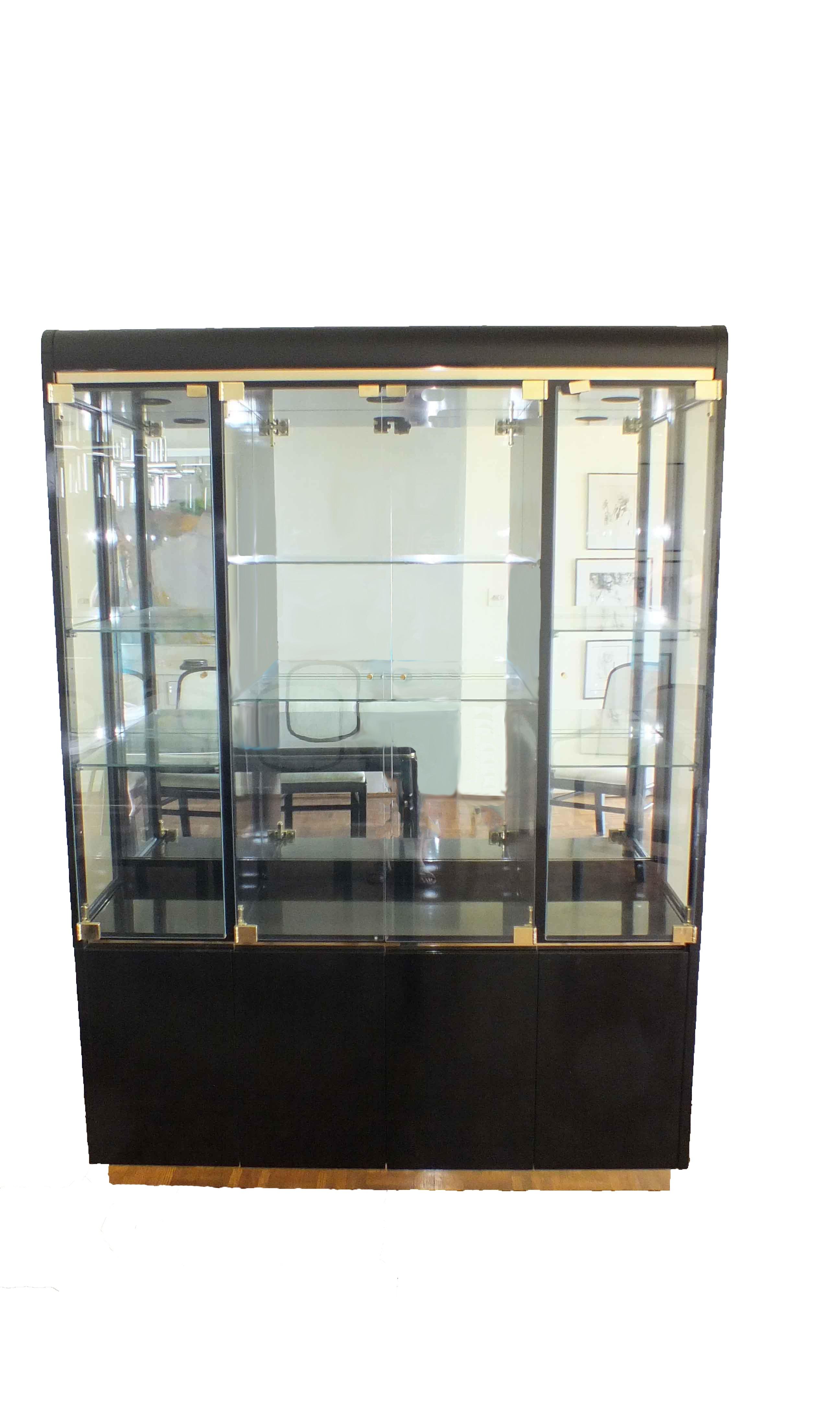 vintage lane  quot lido quot black lacquer china cabinet ebth Black Lacquer Furniture Greek China Cabinet Black Laquer