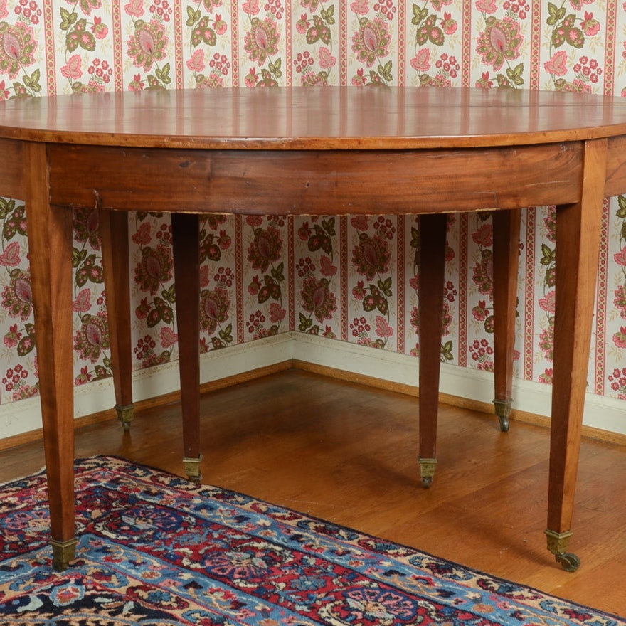 Antique Dining Room Table On Casters