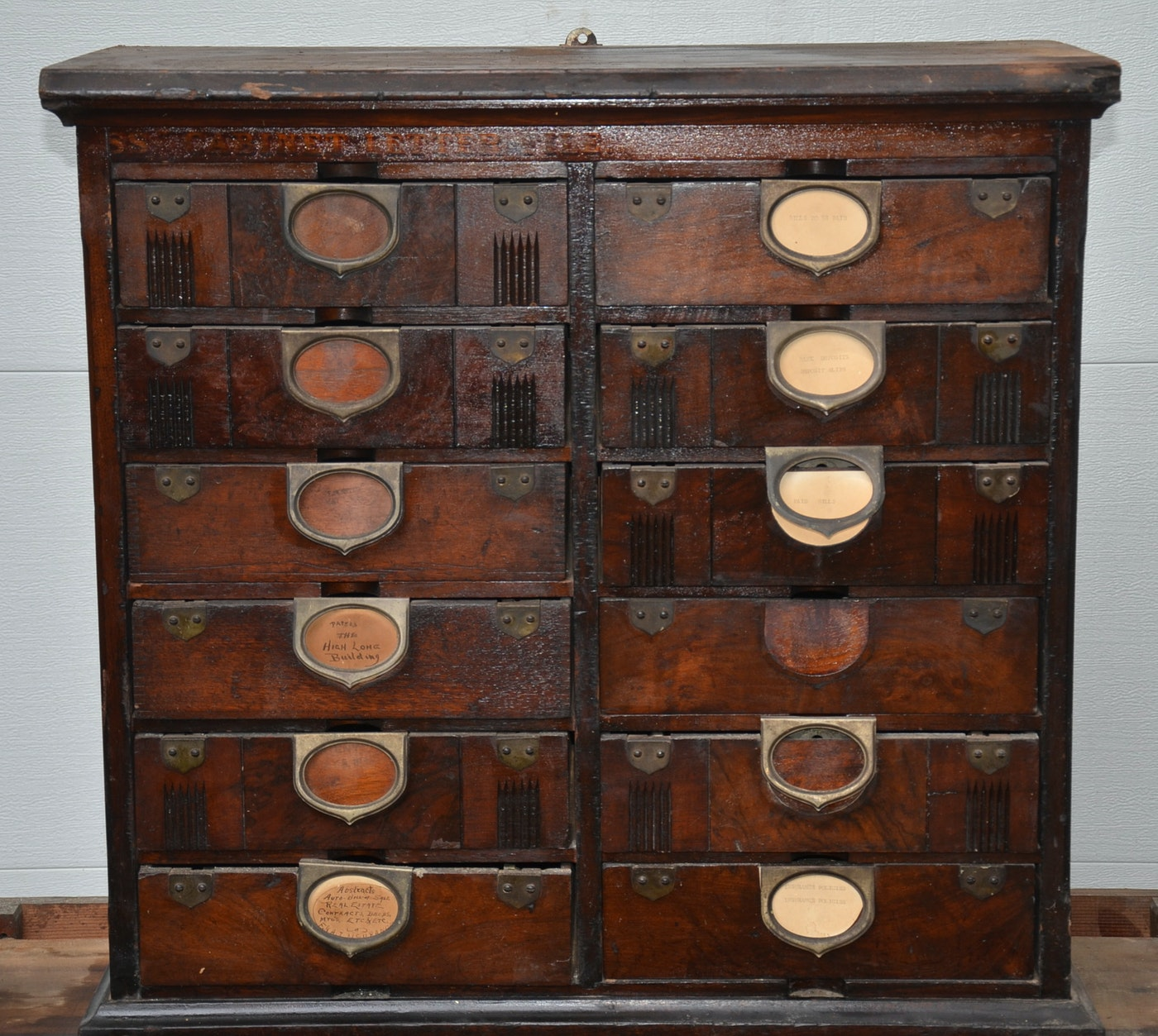 Antique Amberg Patented Letter File Cabinet Ebth