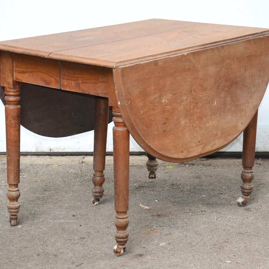 Antique Drop Leaf Table >> Antique Drop Leaf Table