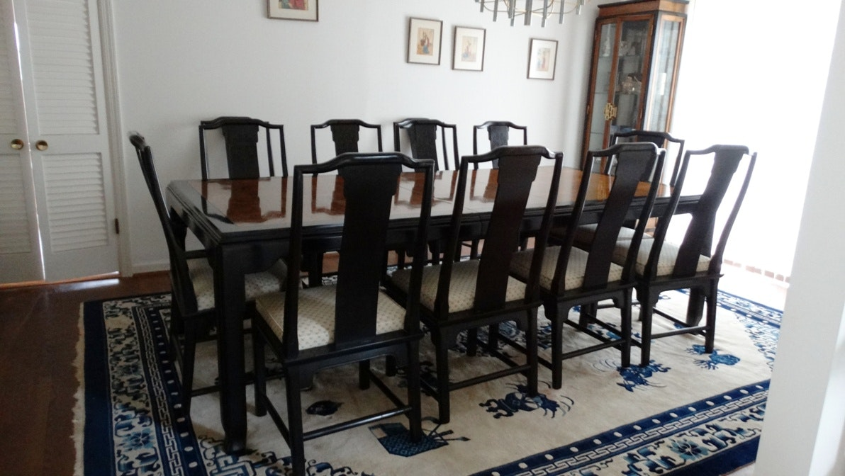 """Maple Kitchen Table With Chair And Bench Ebth: Vintage Century """"Chin Hua"""" Maple Dining Room Table And"""