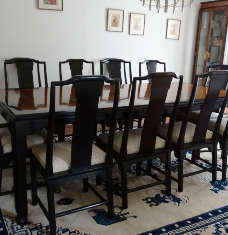 Maple Kitchen Table And Chairs Vintage Century Chin Hua Maple Dining Room Table And Chairs Ebth