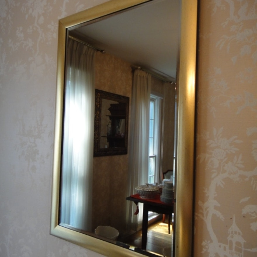 48c3d6f5a27 Gold Tone Beveled Mirror   EBTH