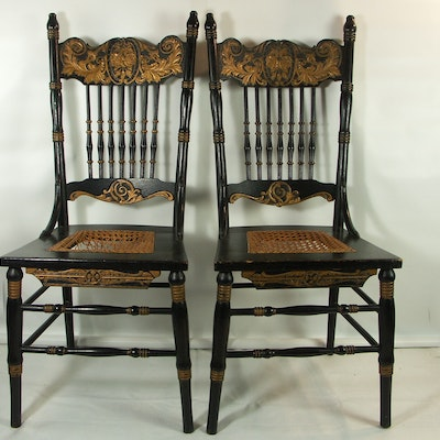 Two Victorian Pressed Back Chairs - Vintage Chairs, Antique Chairs And Retro Chairs Auction In