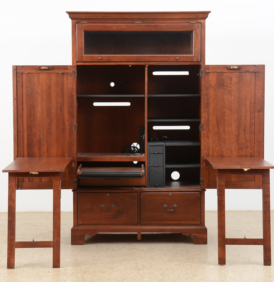 lexington furniture computer desk armoire ebth. Black Bedroom Furniture Sets. Home Design Ideas