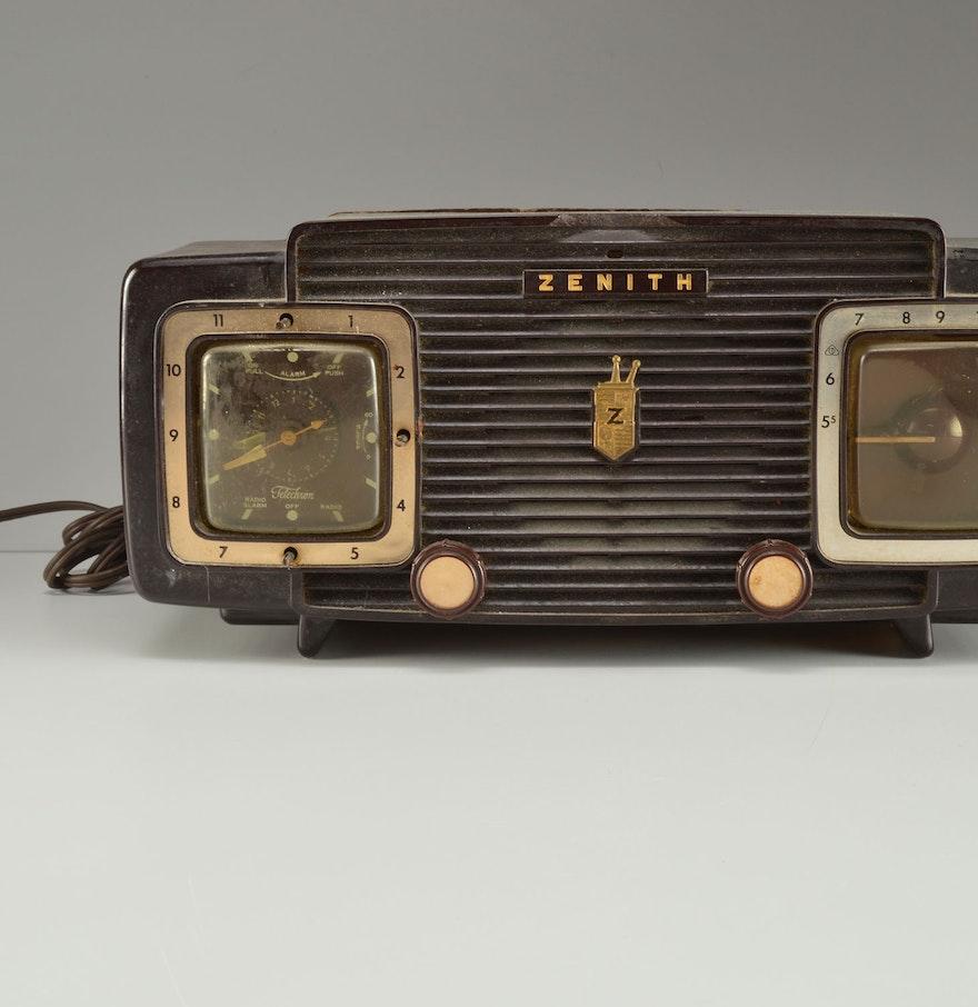 Vintage Turquoise Zenith Clock Radio |Zenith Clock Radio