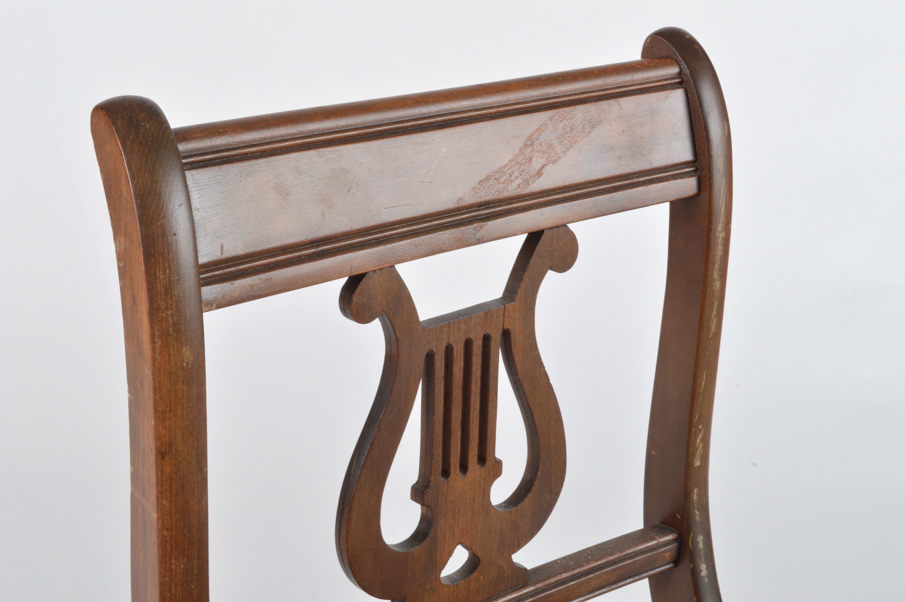 Duncan Phyfe Style Lyre-Back Accent Chair : EBTH